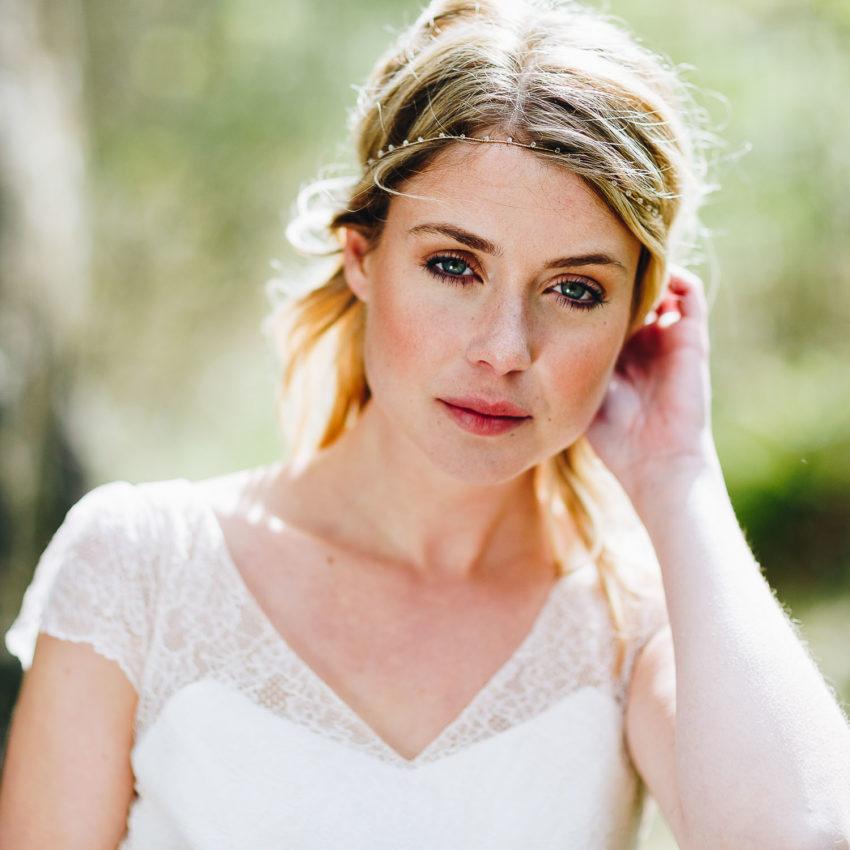 Coralie – Brautkleid kurz, mit Ärmel und Spitze