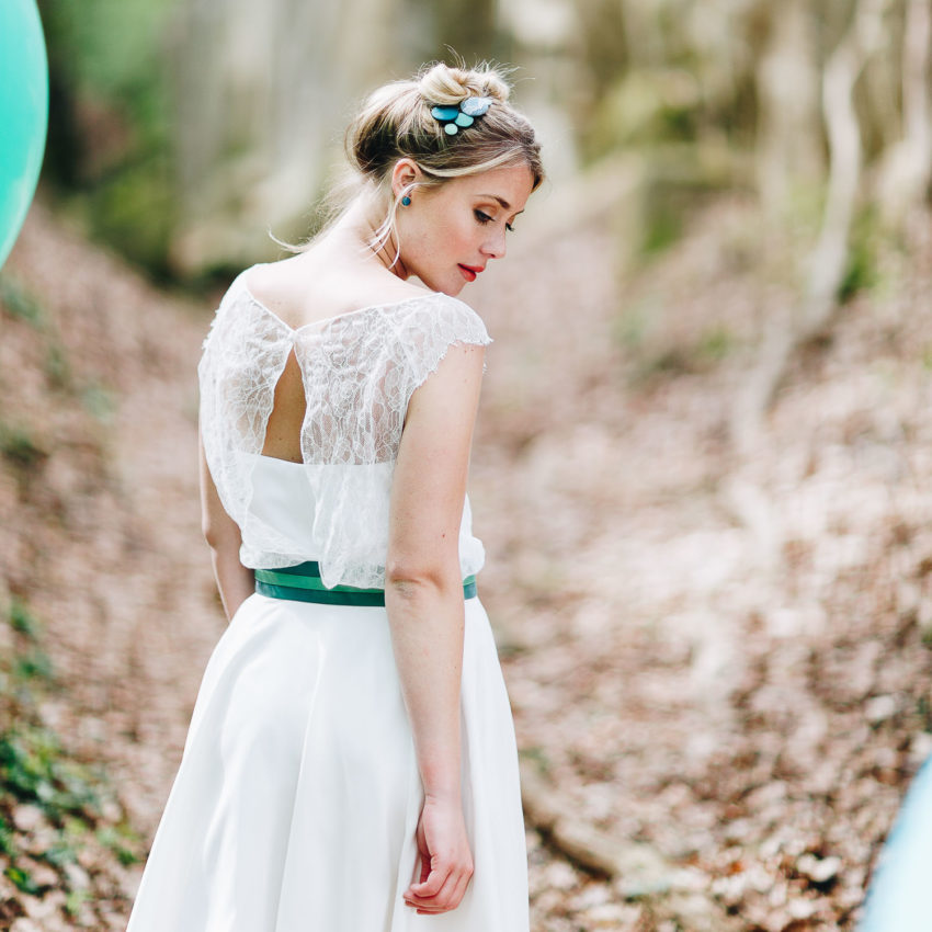 Florine – Brautkleid kurz, alternativ, mit Spitze