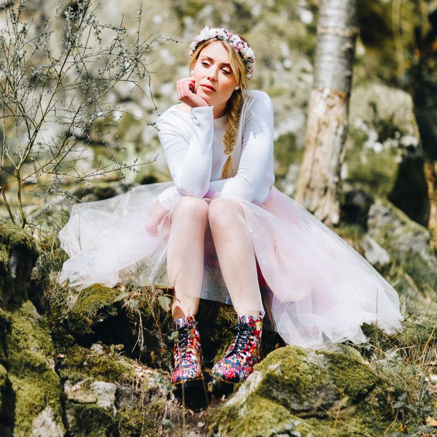 Aliz & Maeli – Braut Pullover mit farbigem Tüllrock