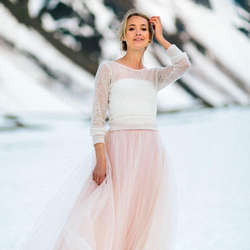 Hazel – Braut Pullover in Creme Natur