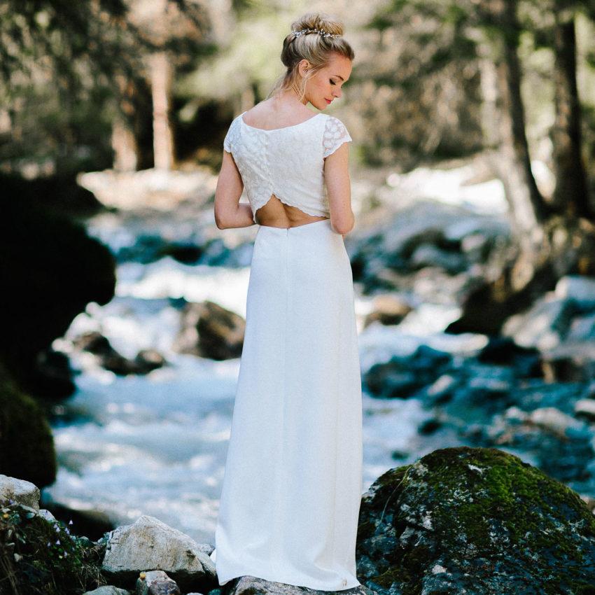 Milla – Brautkleid rückenfrei mit Spitze
