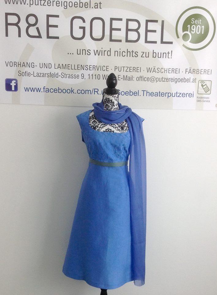 noni - kurzes Brautkleid mit zarter Bestickung, nach der Hochzeit in Hellblau eingefärbt