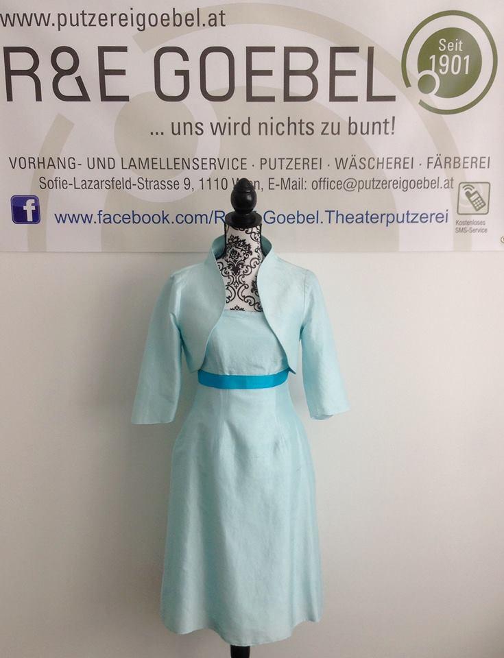 noni_Brautkleid nach der Hochzeit professionell eingefärbt von der Färberei Goebel in Wien