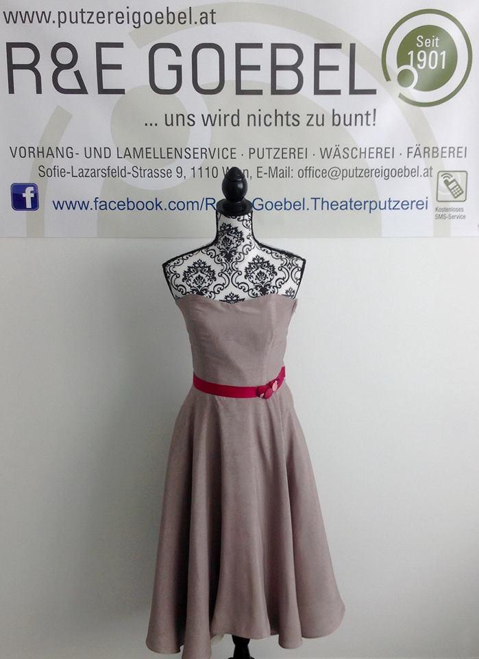 noni Brautkleid mit Knöpfen, nach der Hochzeit in edlem cappuccino eingefärbt