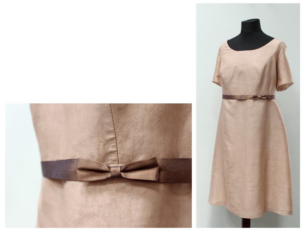 noni - Hochzeitskleid nach der Hochzeit in hellem Cappuccino Ton eingefärbt