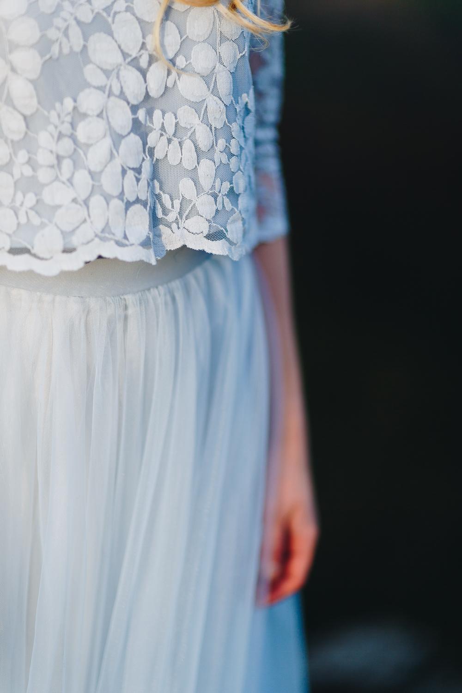 Boho Brautkleid in Blau