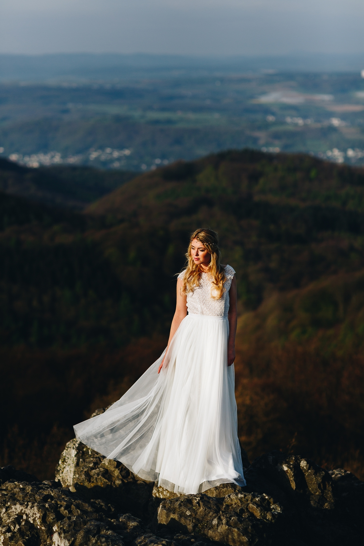 Brautkleid mit Spitze im Boho Stil