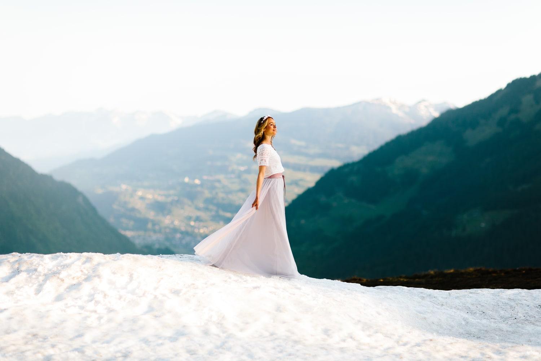 noni Brautkleider 2019 | Boho Brautkleid mit Spitze und Tüllrock (Foto: Jennifer Nilsson, Le Hai Linh)