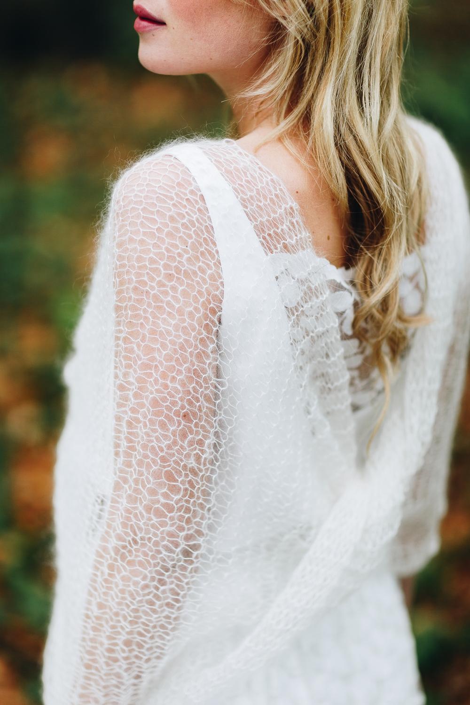 Braut Schal, Strick, Ivory, zum schlichten Brautkleid