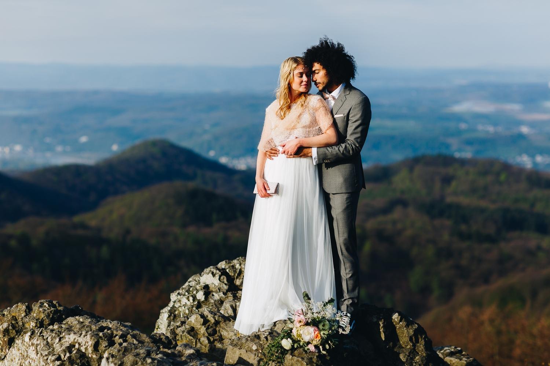 Braut Schal Boho Brautkleid mit Spitze und Tüllrock