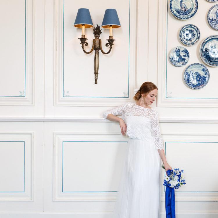 Braut Inspiration im Schloss Bensberg mit zweiteiligen Brautkleidern