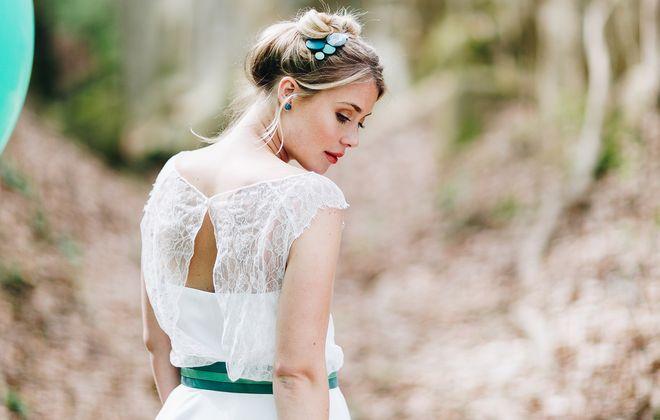 Brautkleid kurz, alternativ, mit Spitze (Foto: Le Hai Linh)