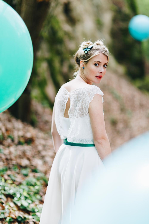 Brautkleid kurz, alternativ, mit Spitze