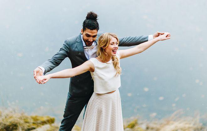 Brautkleid kurz, im Boho Stil