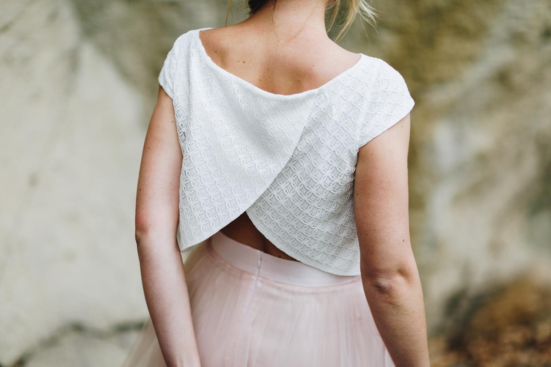 noni Brautkleider 2018 - jetzt entdecken! | Brautkleid mit Tüllrock in Rosa und Braut Bluse  (Foto: Le Hai Linh)