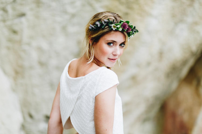 Brautkleid mit Tüllrock und kurzer Braut Bluse