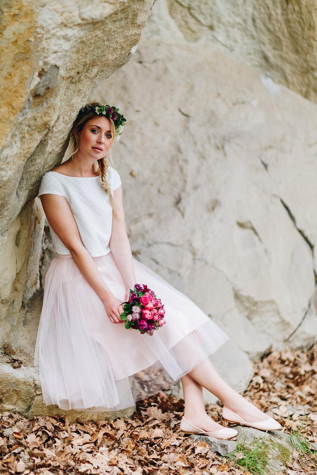 Brautkleid Maeli Brautkleid Mit Tullrock Und Braut Bluse Noni