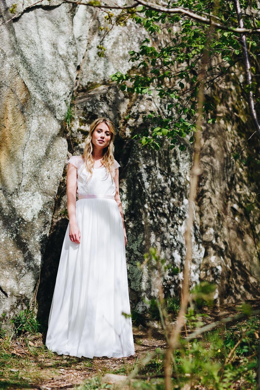 Brautkleid rückenfrei, mit Spitze