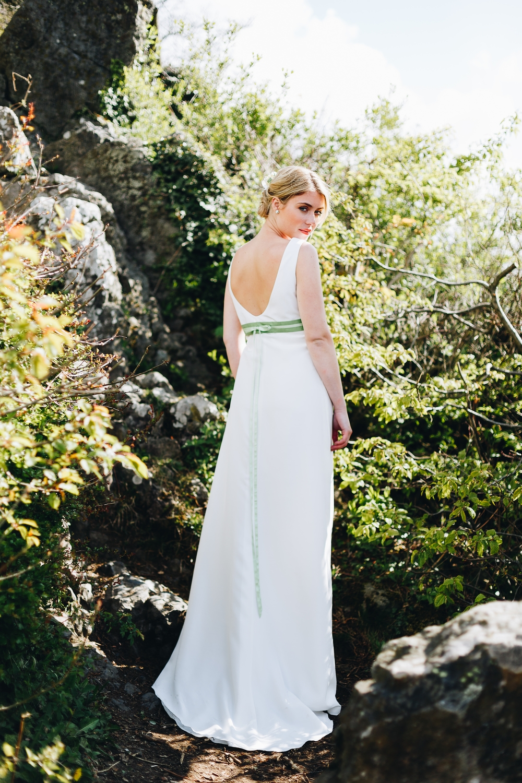 Brautkleid im vintage Boho Stil, rückenfrei