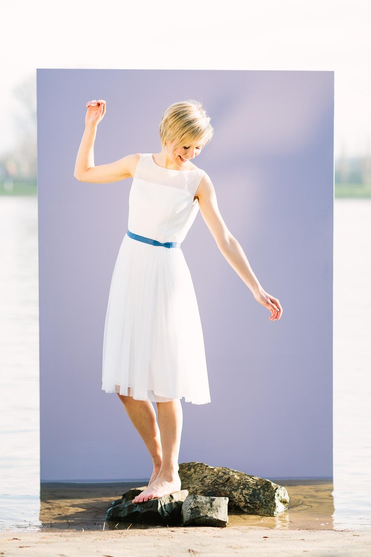 Brautkleider mit Tüll, fließend, kurz