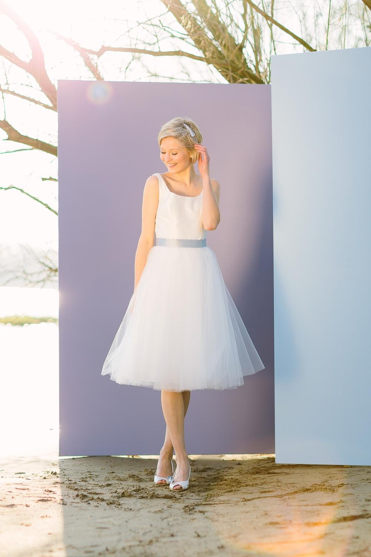Brautkleider kurz, mit Tüll