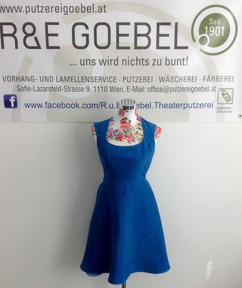 Brautkleid eingefärbt, von einer professionellen Brautkleid Färberei