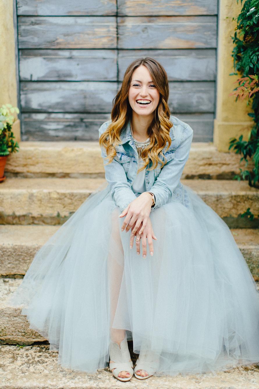 Brautkleider mit Tüll, modern