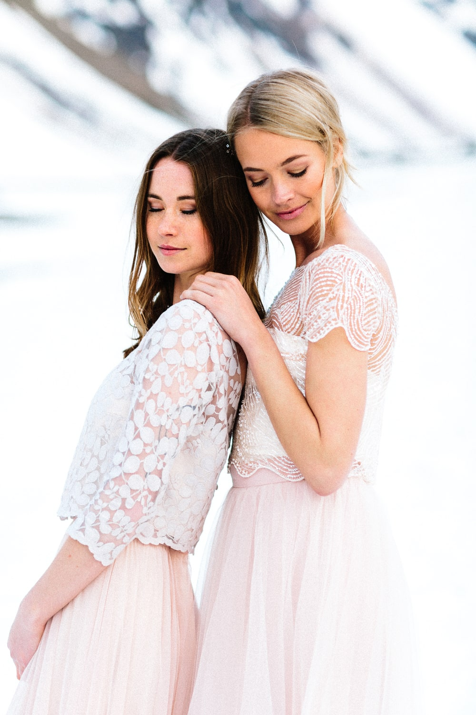noni Brautkleider 2019 | Brautkleider in Rosa, Blush und Nude (Foto: Jennifer Nilsson, Le Hai Linh)