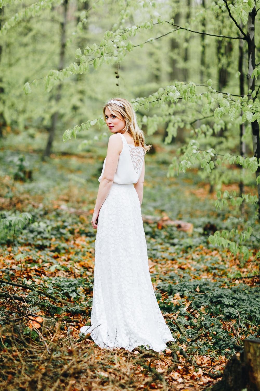 Brautkleider mit Tüll und Spitze