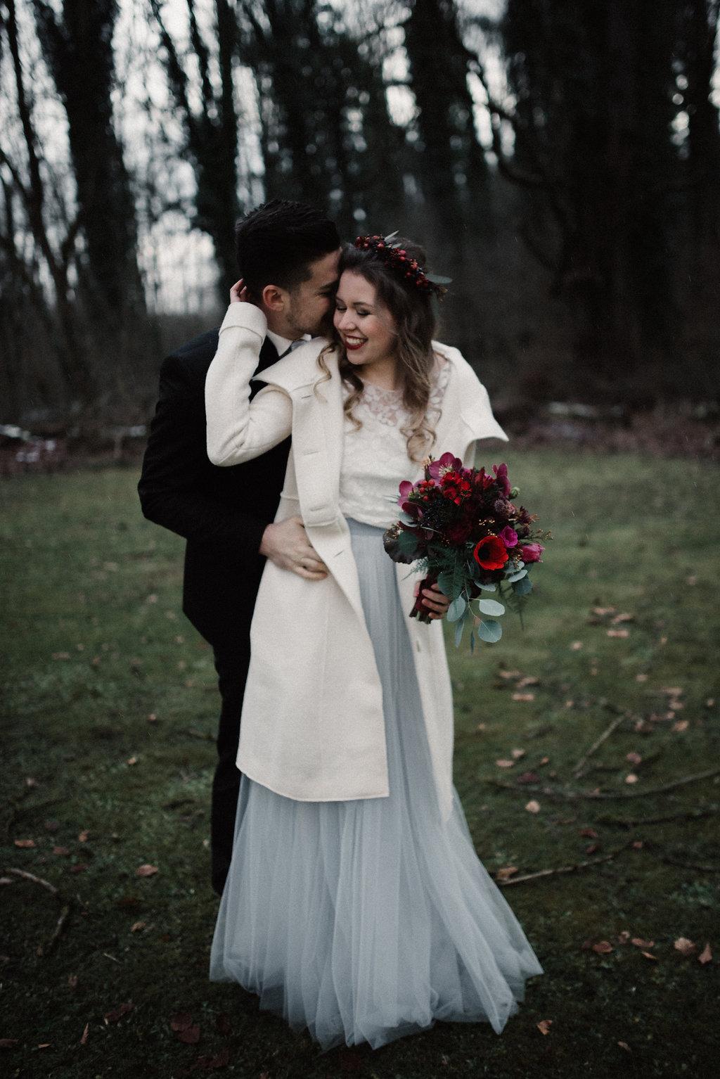 Brautmantel zum Brautkleid