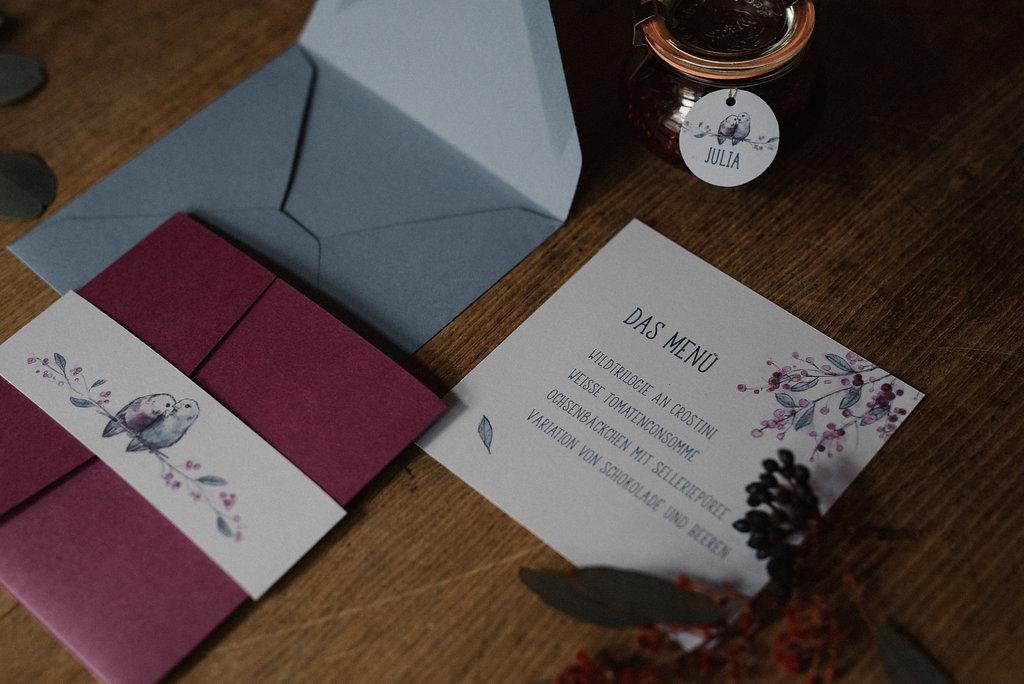 Einladungskarten für die Hochzeit