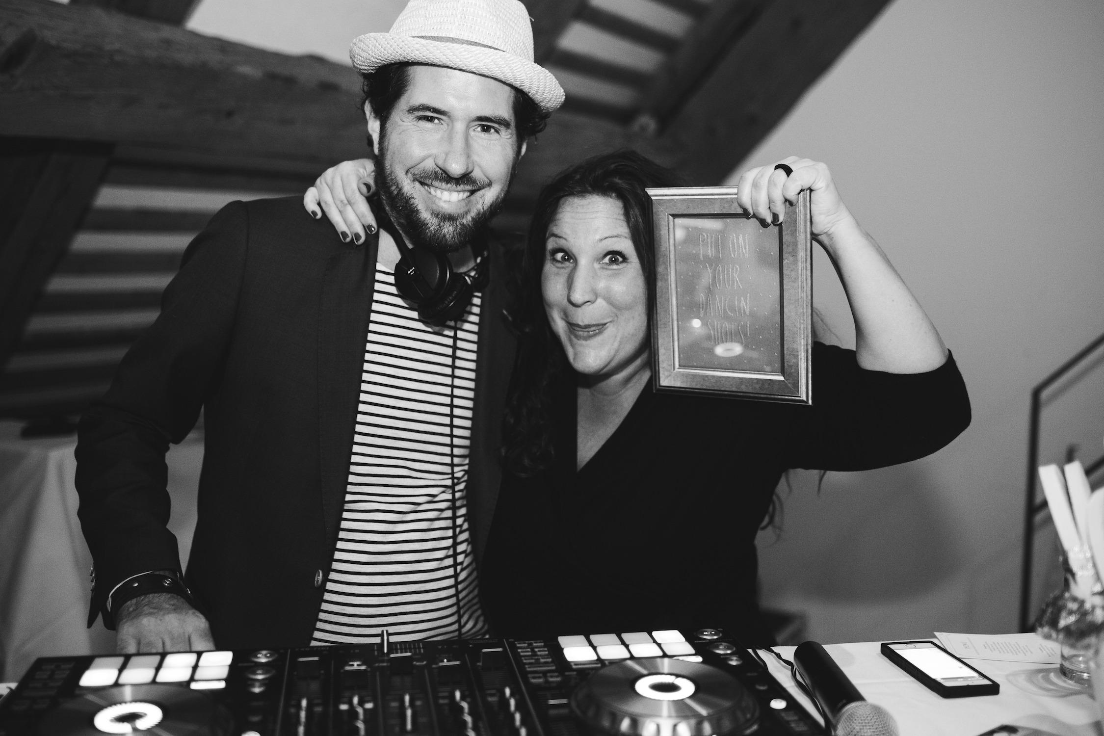 DJ Markus Rosenbaum und Katrin Glaser