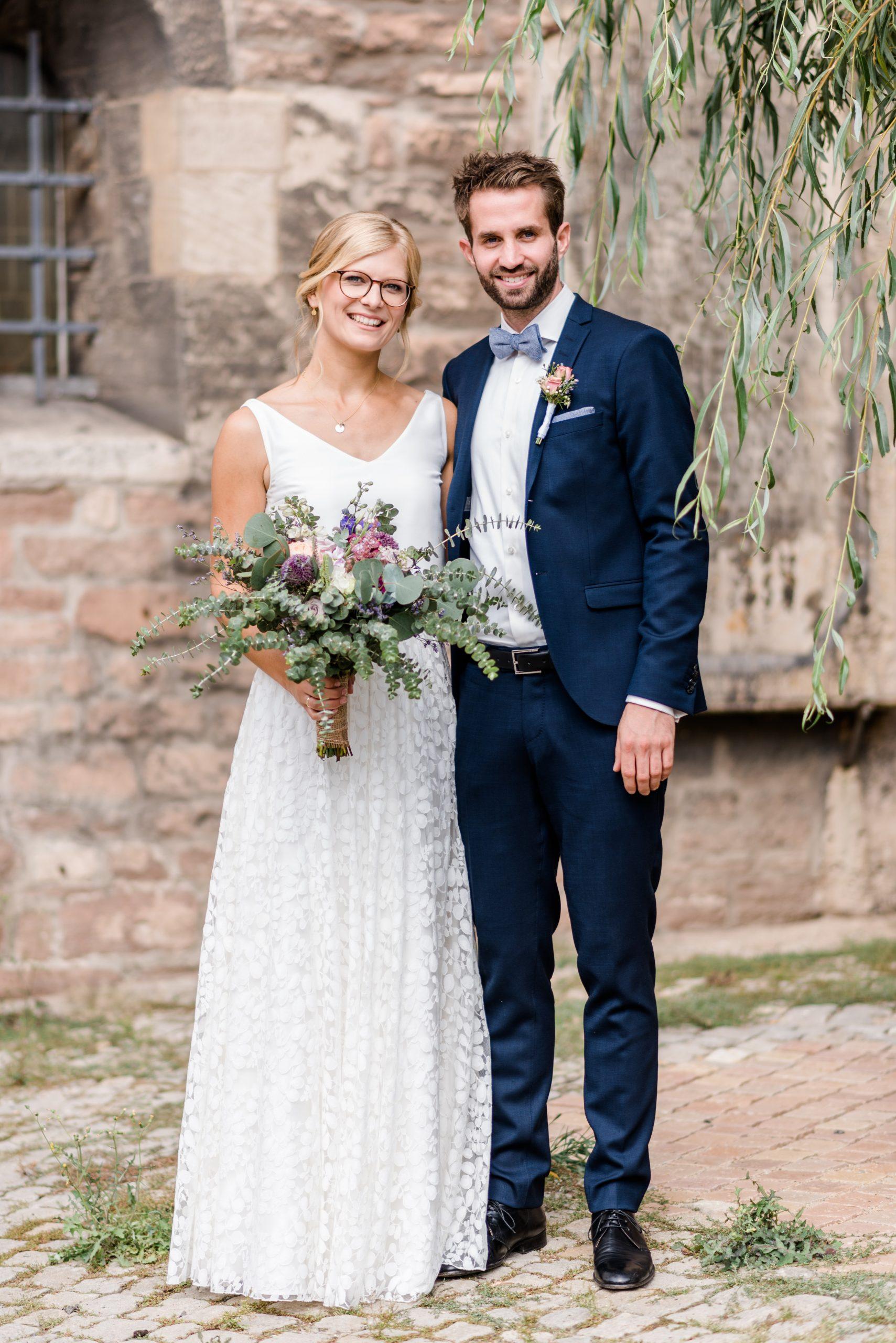 Brautkleid-Kombination aus Seidentop und Tüllrock für die Kirche