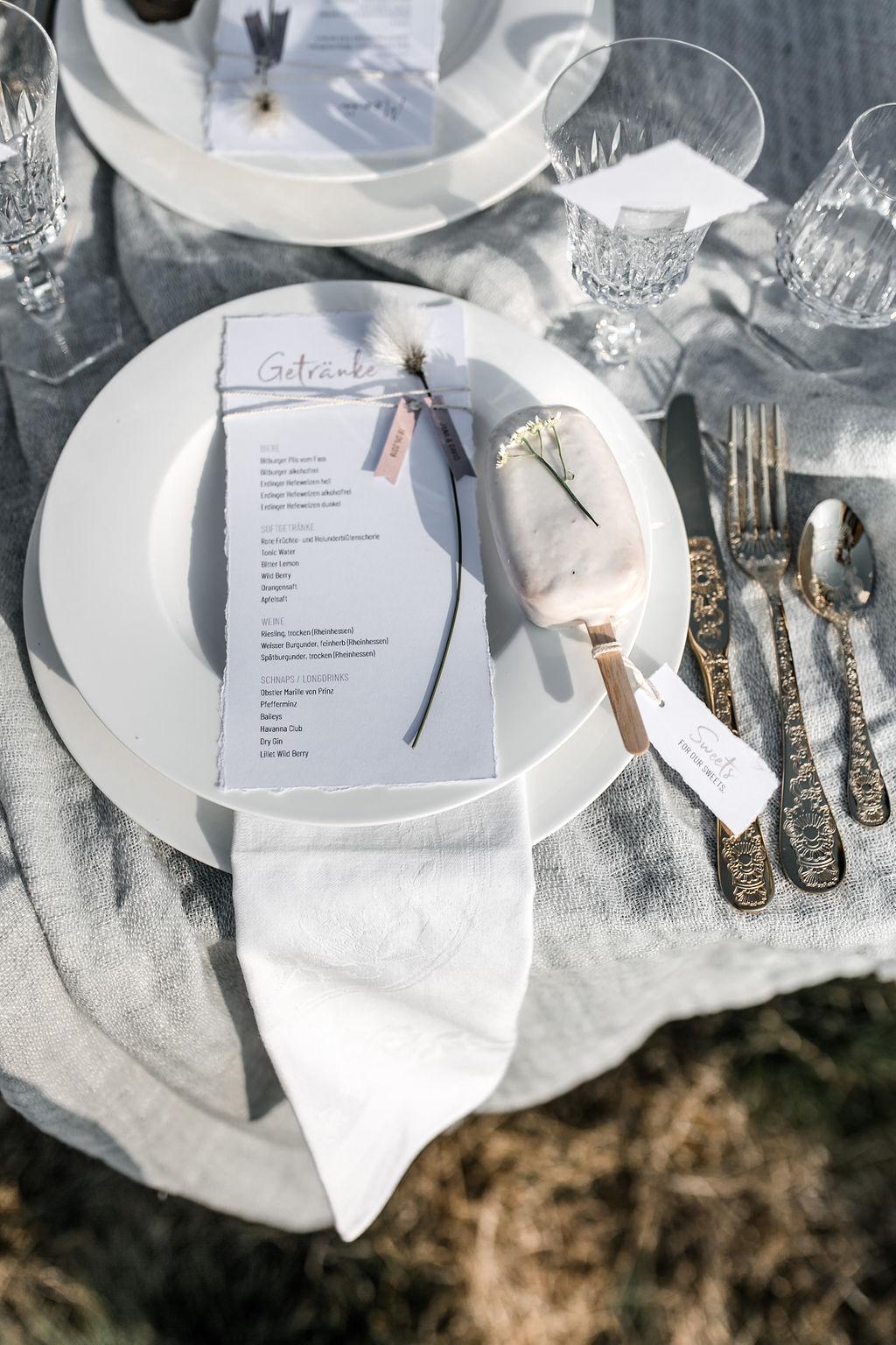 Boho Hochzeit Tischdeko (Foto: Carola Triphaus)