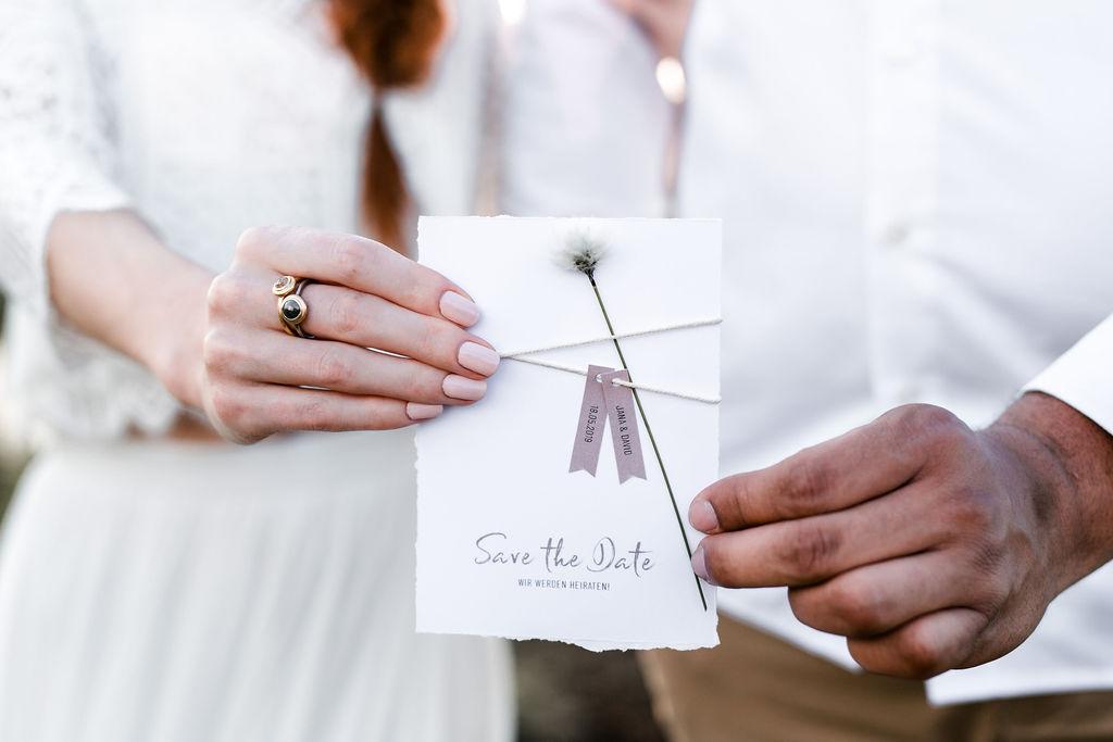 Boho Hochzeit Tischdekoration Einlandungskarte