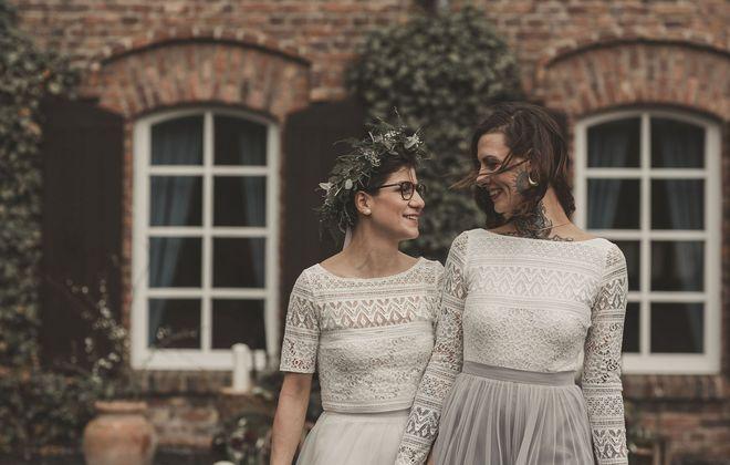 Hochzeit auf dem Falderhof mit lesbischem Brautpaar
