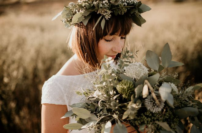 Hochzeitsinspiration Indian Summer Wedding Blumenkranz