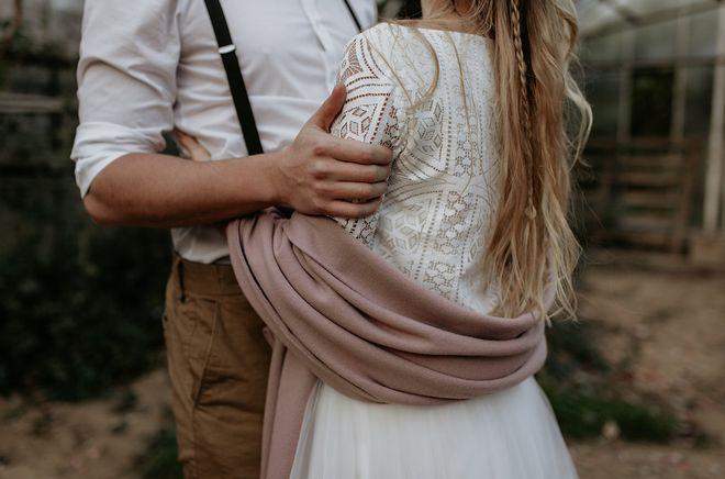 Hochzeitsinspiration Herbsthochzeit mit Brautstola