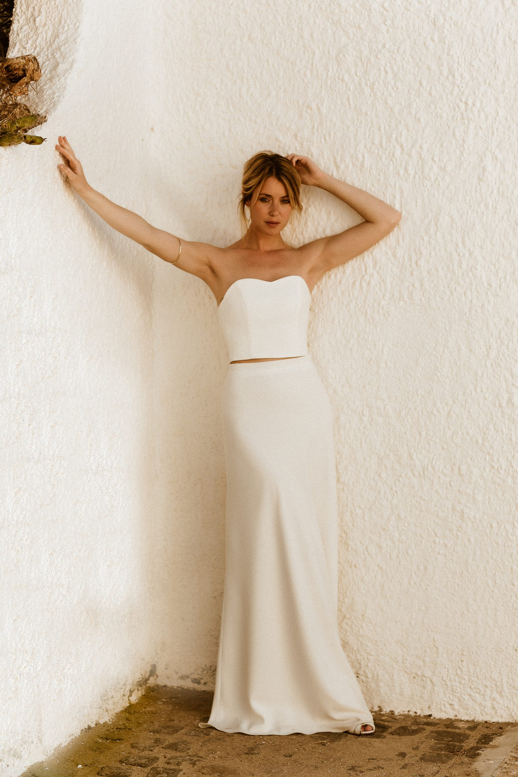 noni Brautkleid mit Corsage und Überrock mit 3D-Blättern