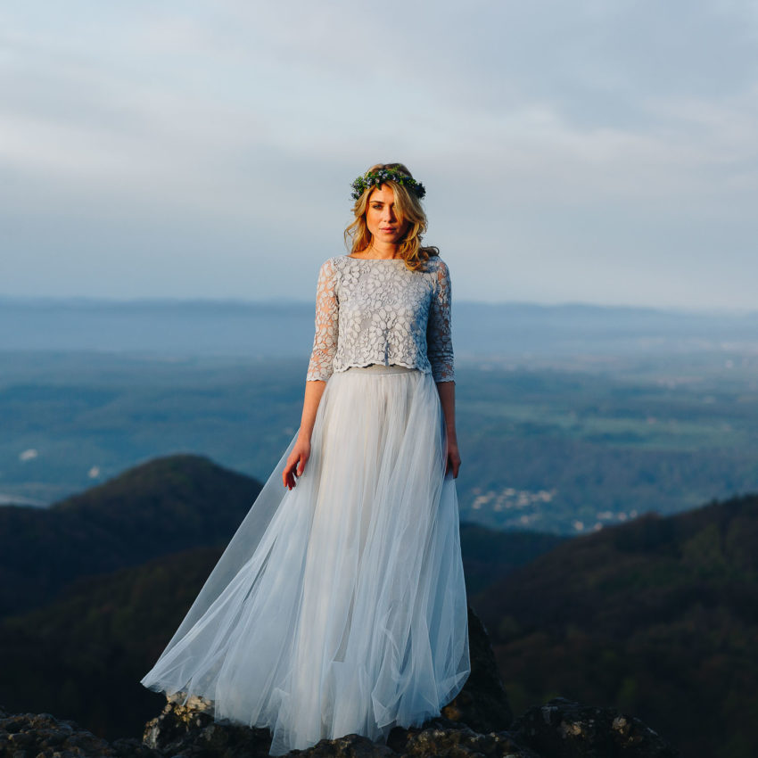 Anais – Boho Brautkleid in Blau