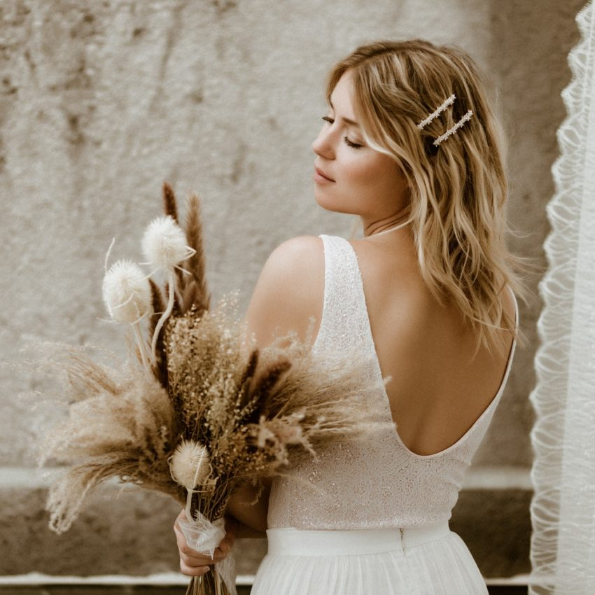 Halina – Brautkleid-Zweiteiler aus Glitzerbody und Tüllrock