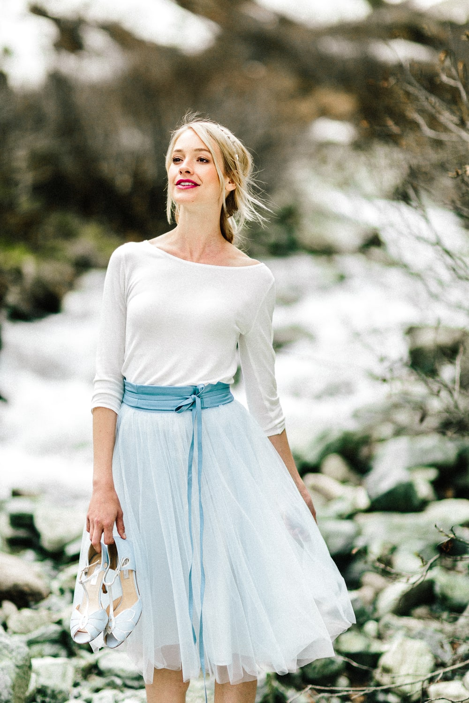 Brautkleid Zoe - Standesamt Outfit mit Braut Pullover und ...
