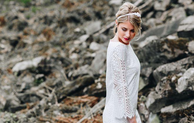 Standesamt kleid kurz spitze online