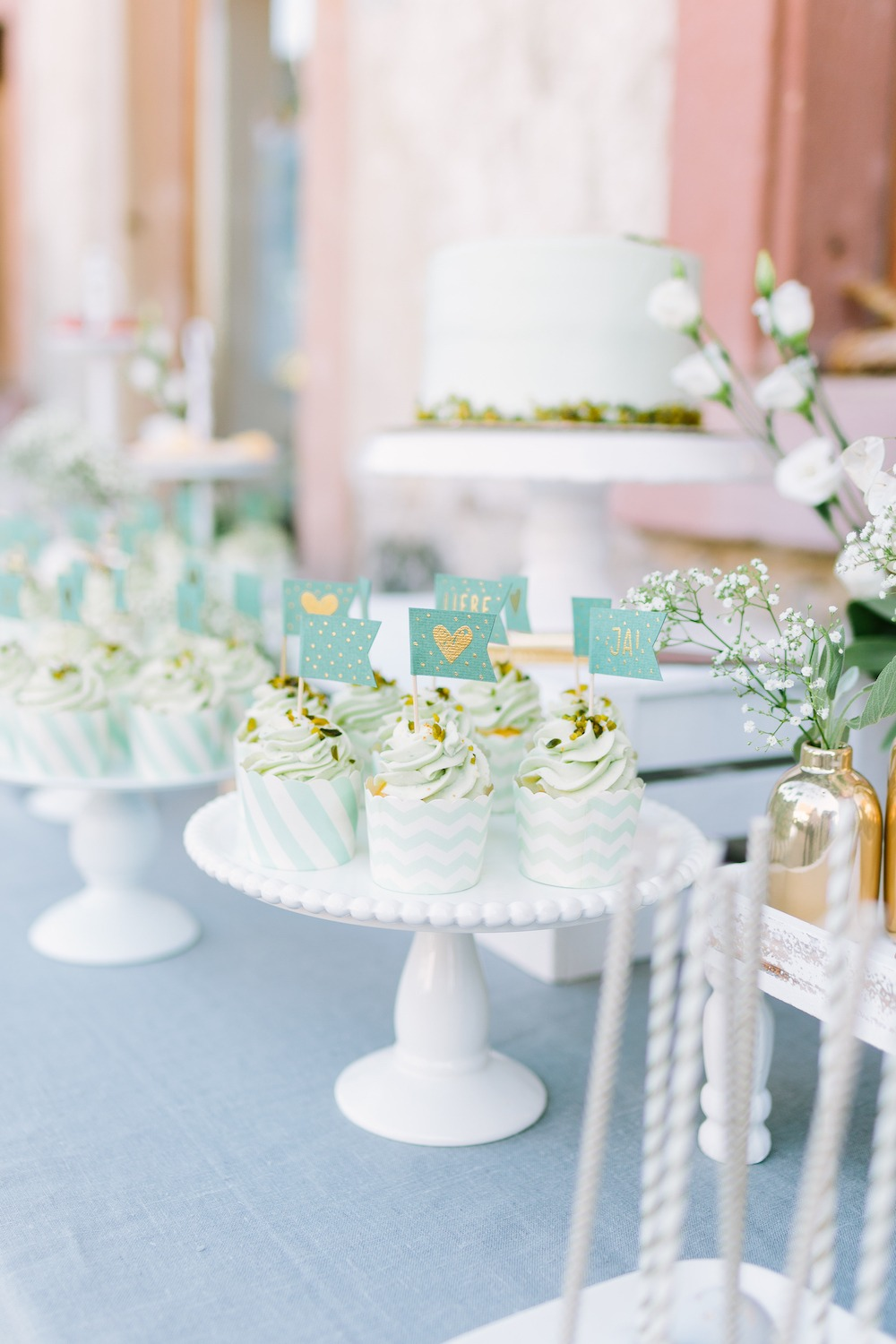 Sweet Table mit Mint und Gold