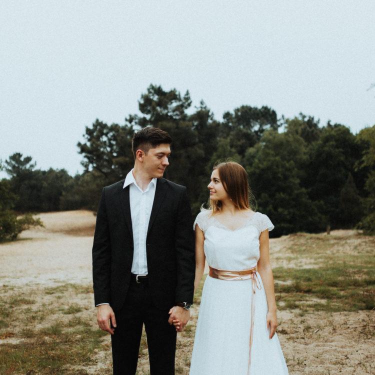 Vintage Brautkleid mit Spitze und rückenfrei