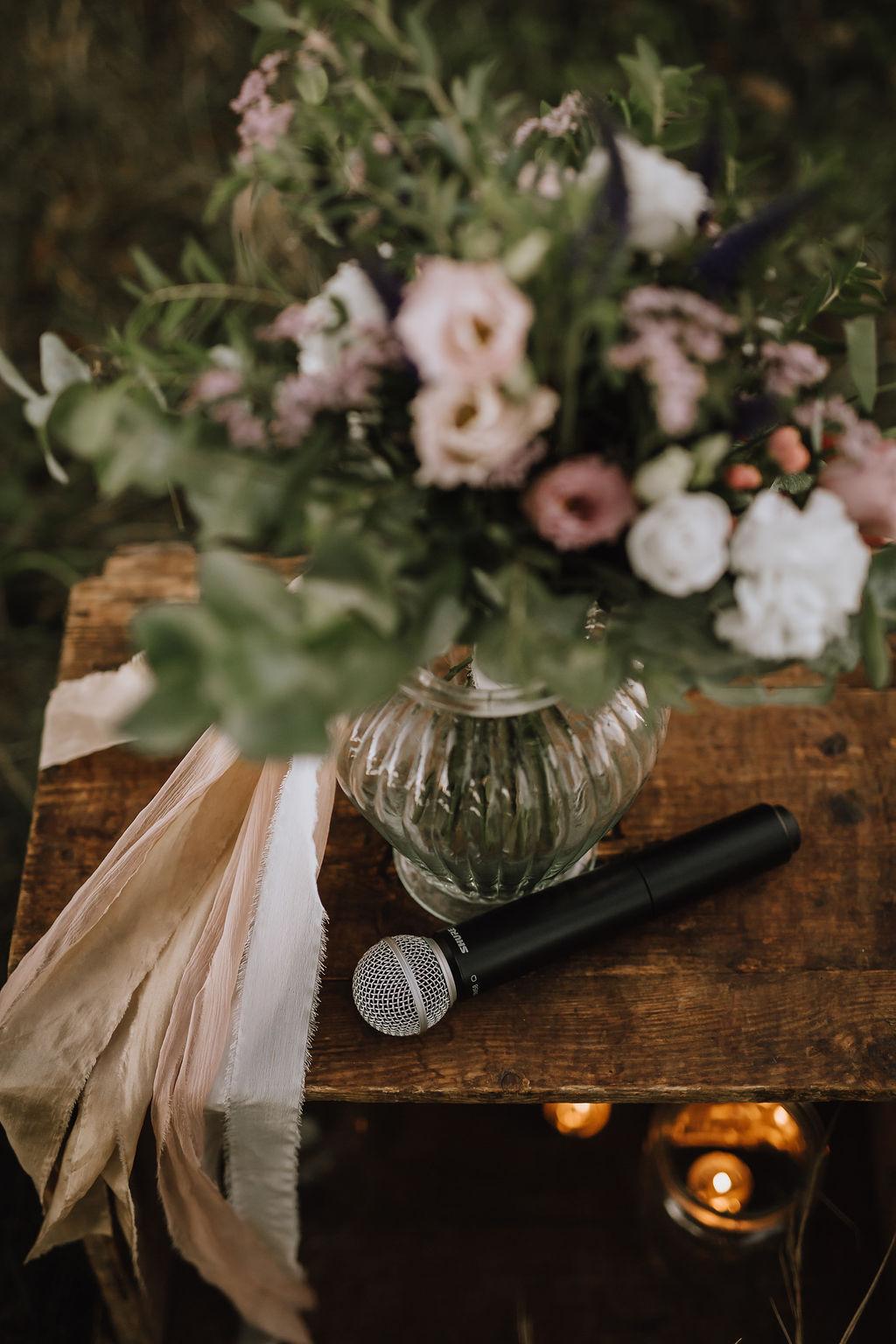 Styled Shoot Boho Hochzeit, Brautstrauss, Detailansicht