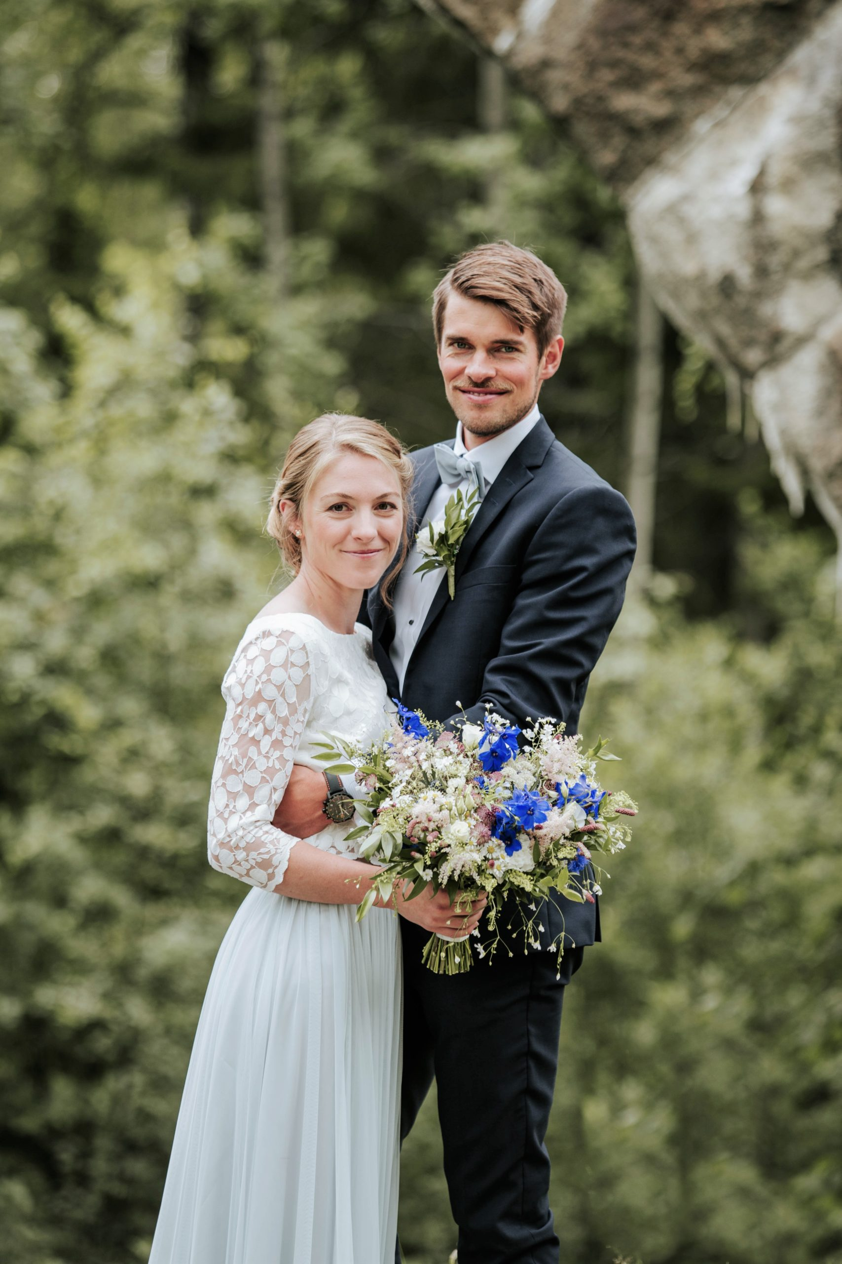 Braut neben Bräutigam