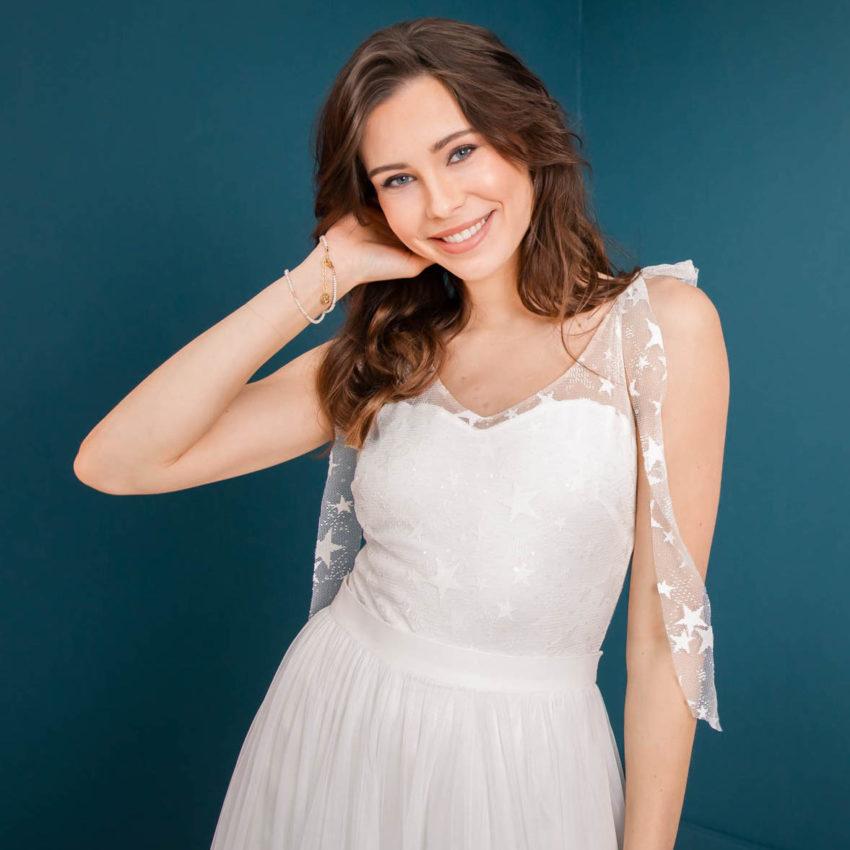 Stella – Braut Body aus Sternchentüll