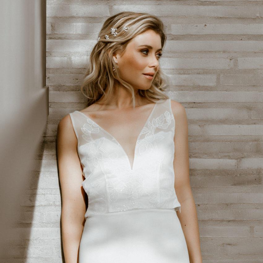 Ivy – Zweiteiliges Brautkleid mit Efeu-Muster