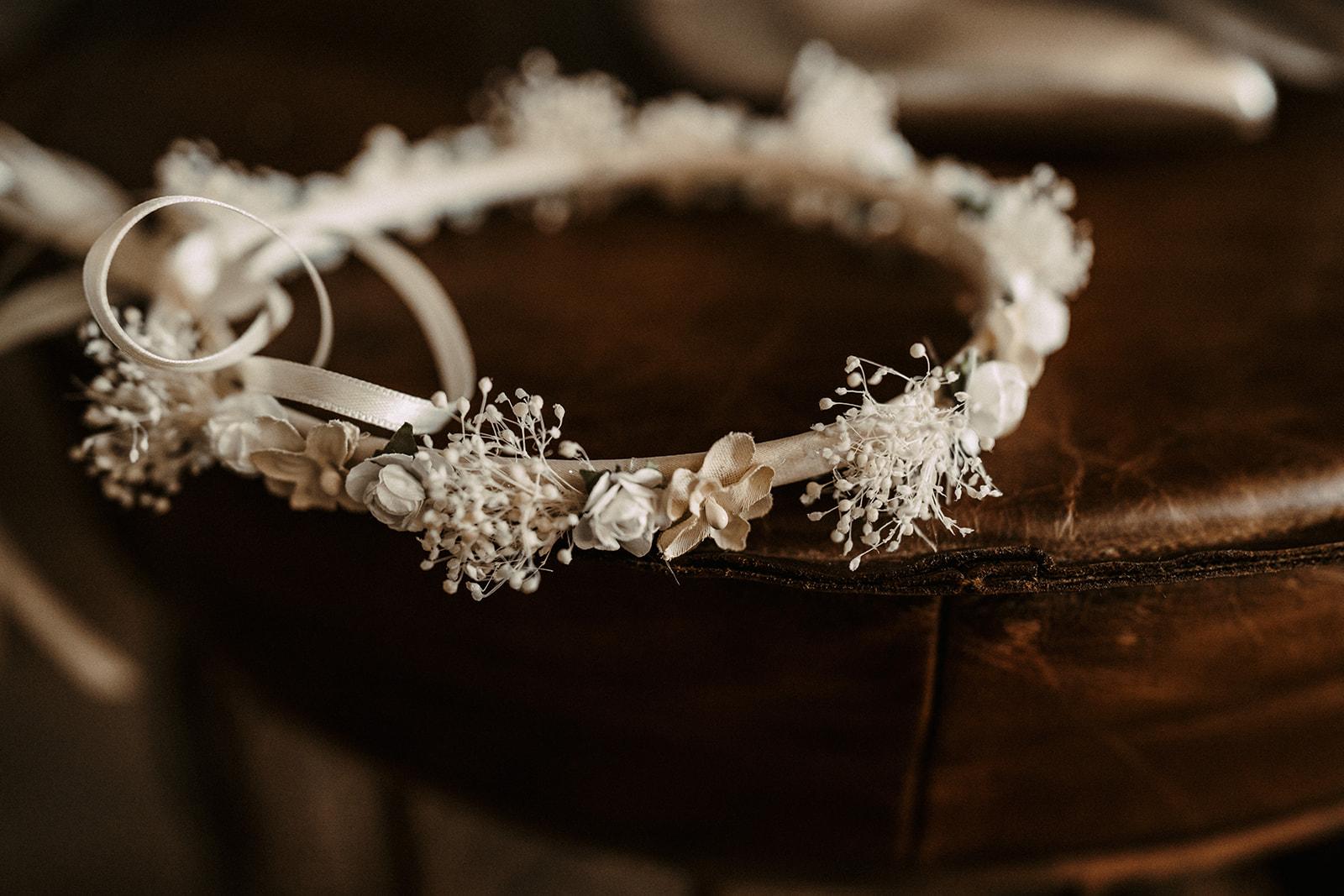 Blumenkranz von Braut